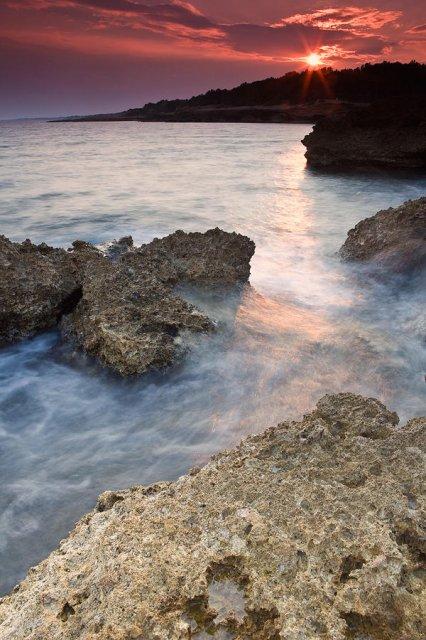 Atardecer en la costa de Tarragona