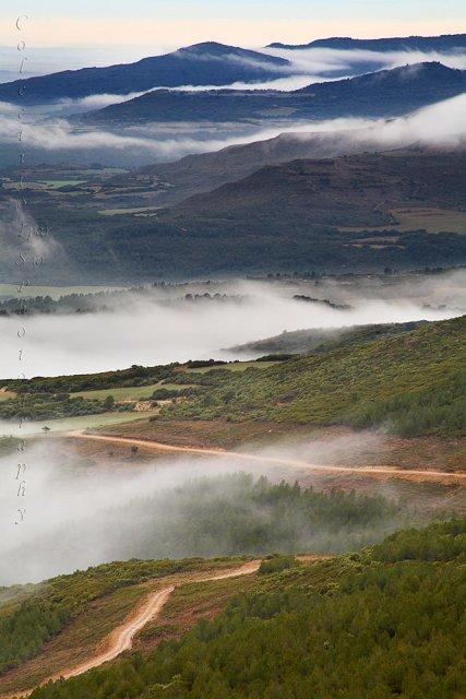 Días de lluvia y niebla