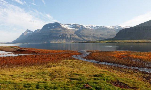 Fiordo Berufjördur, Islandia