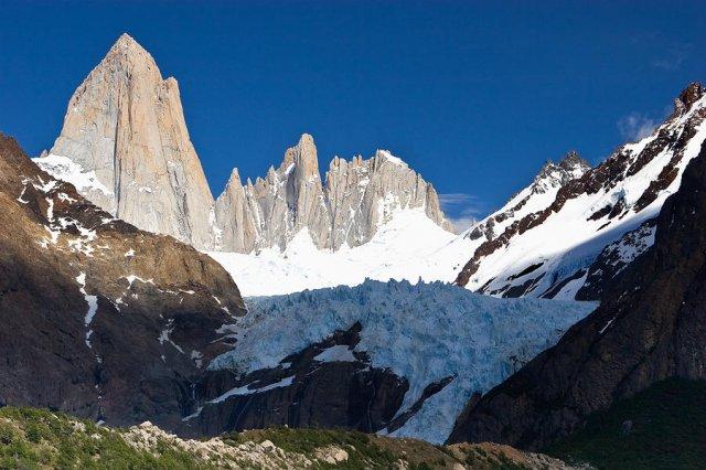 Glaciar Piedras Blancas y monte Fitz Roy
