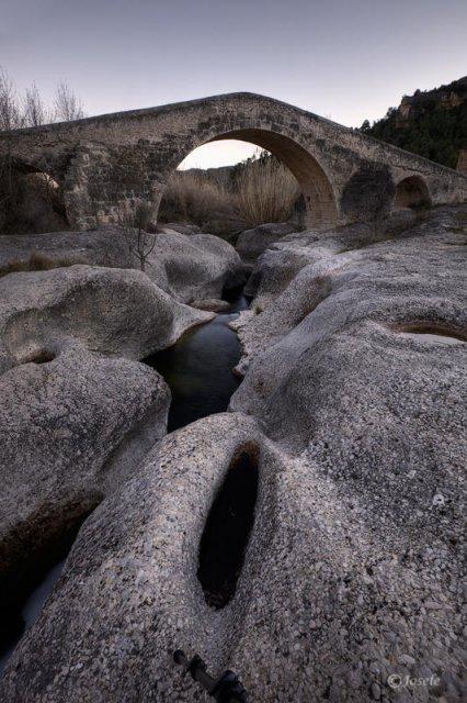 Puente romano sobre el río Montsant