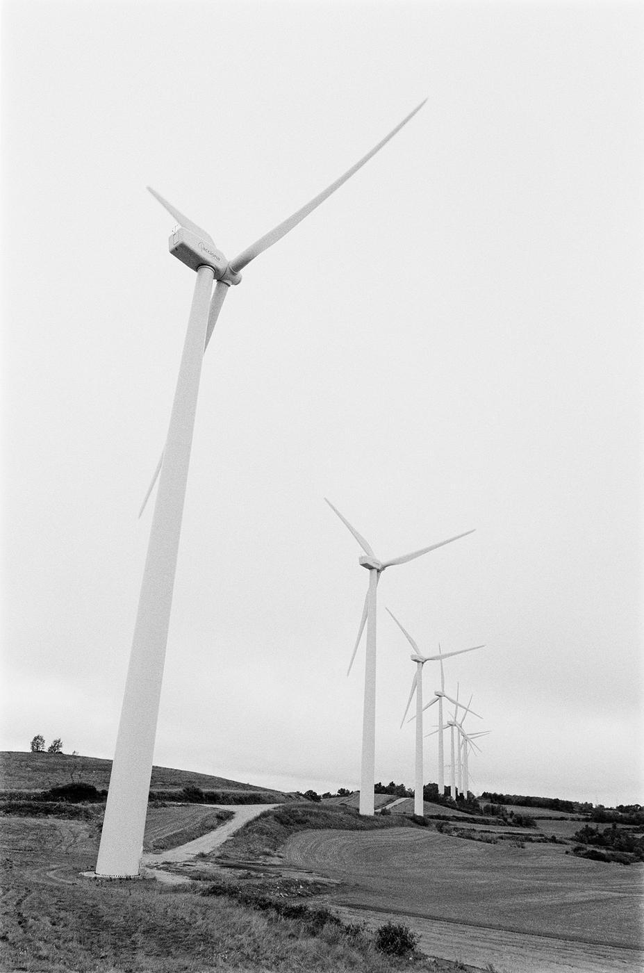 Aerogeneradores en la Conca de Barberà (Fede Rosillo)