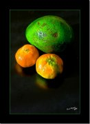 Aguacate y mandarinas