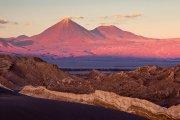 Atardecer desde el desierto de Atacama