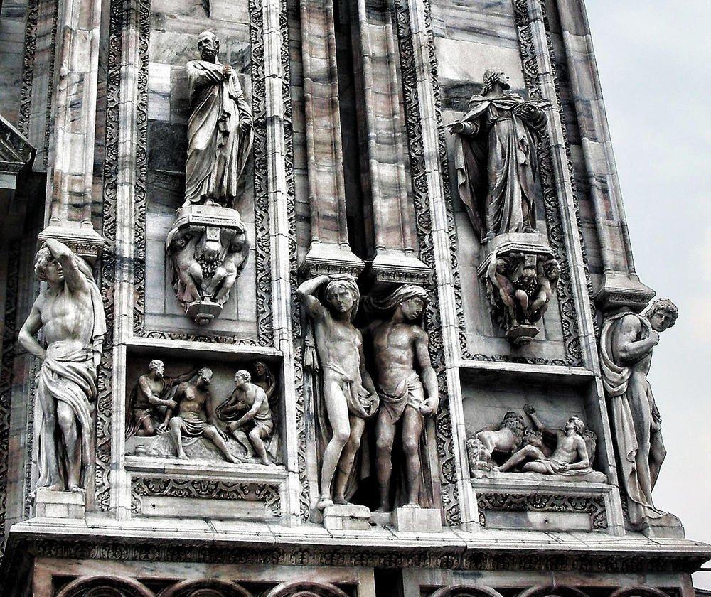 CATEDRAL DE MILAN,  detalle fachada... (luis orchevecs ferenczi)