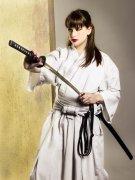 Chica con katana de Iaido