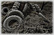 Cubiertas de neumático escarchadas