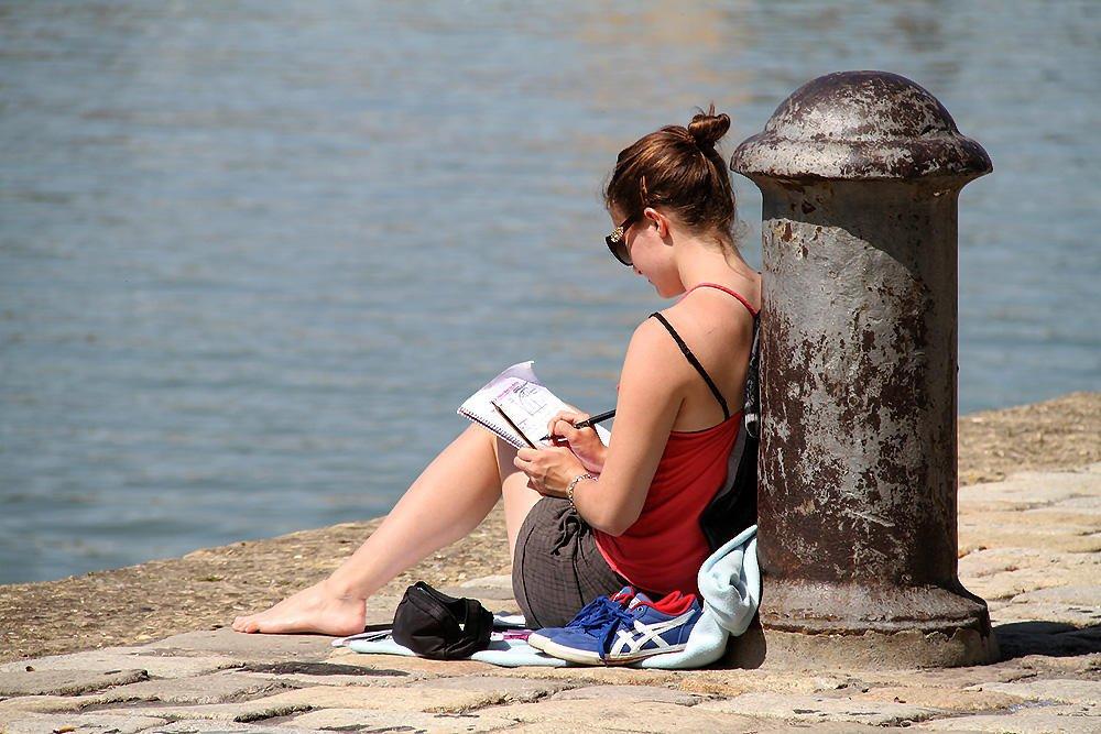 Estudiando... en paz. (F. Xavier Vilamanyà Prat)