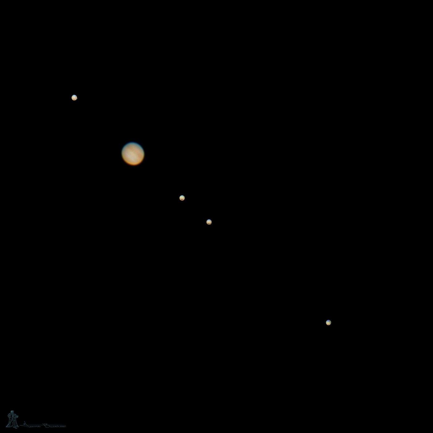 Júpiter y sus lunas (Txema Bacaicoa (Colectivo IS))
