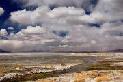 Laguna salada.Altiplano Boliviano