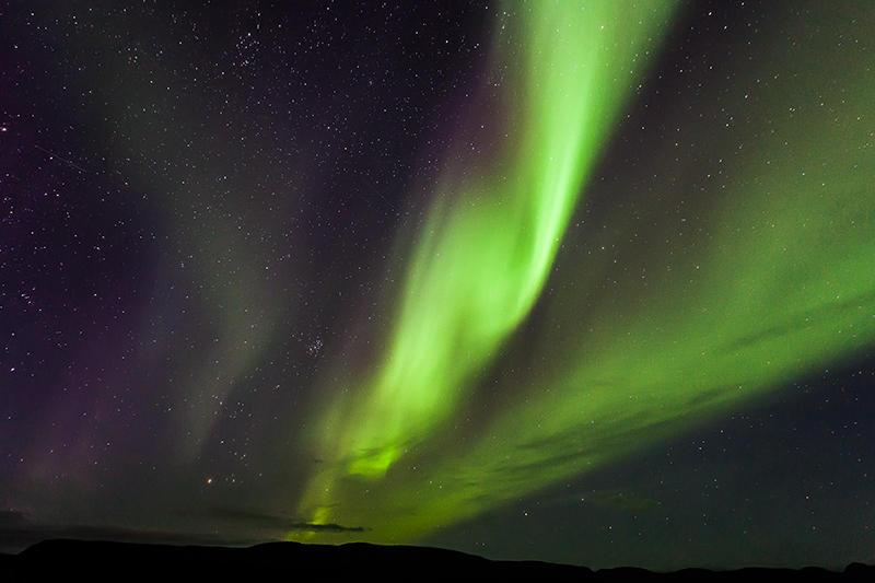 Luces del norte y cielo estrellado. Islandia 204 (david Pérez Hens)