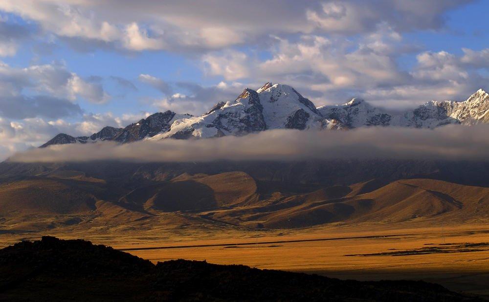 Ocaso en los Andes