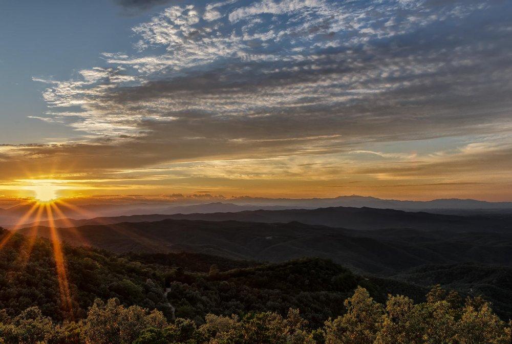 Puesta de sol desde el mirador Puig d´Arques