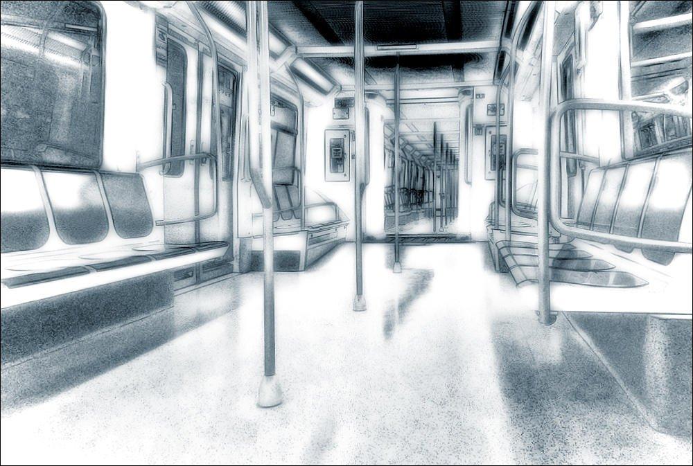 Vagón de metro (Salvador Solé Soriano)